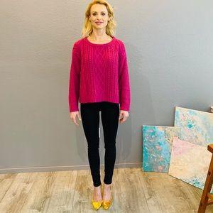 Magenta Chunky Knit Sweater, So Cozy!💞